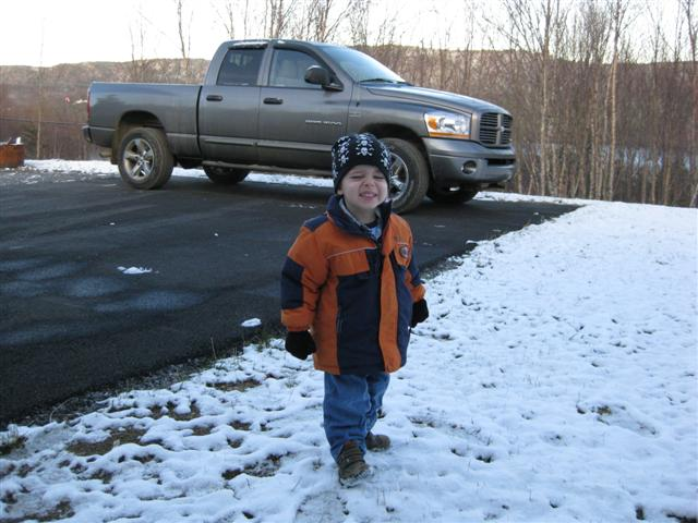 Nicholas in the snow November 25th, 2008